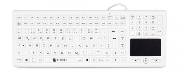 Silikonummantelte Tastatur für medizinische Bereiche BLT03