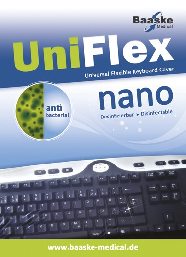Tastaturschutz Uni Flex nano antibakteriell